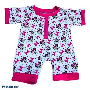 Build A Bear Workshop Accessory Minnie Mouse Pink Purple White One Piece Outfit