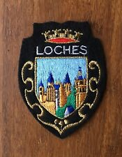 Vintage French Loches Patch - Embroidered Retro Souvenir Loire