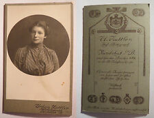 Landshut i. B. - Frau im Kleid - Portrait / CDV mit Rückseite