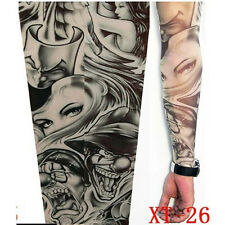 2X Fake Tattoo Sleeve Cloth Arm Design Party Sleeves Fancy Dress Tribal New