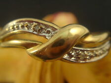 Noble ANNEAU Zircon OR 333 er or anneau bijou en or