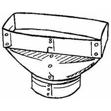 """Galvanized 2 1/4"""" X 10"""" X 6"""" 30 Ga Furnace Stove Pipe Registr Boot Gv0698-C"""