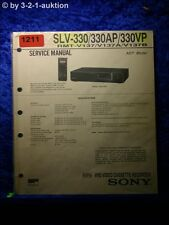 Sony Service Manual SLV 330 / 330AP / 330 VP Video Recorder  (#1211)