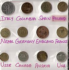 12 DIFFERENT COUNTRIES COINS WITH ITALY SPAIN NEPAL AUSTRIA LOT # M 6