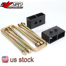 KSP 2'' Rear Level Lift Kit F150 Suspension Tapered Blocks + U Bolt 04-17 FORD