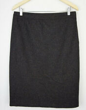 Jump Womens 16 (14) Skirt Wool Straight Pencil Brown Warm Winter Work Office 22
