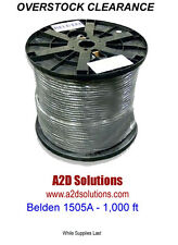 1,000 Ft. Belden 1505A RG59/20 HD-SDI Digital Coax - BLACK - OVERSTOCK CLEARANCE