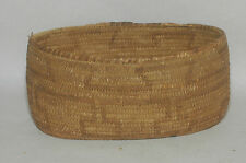 "Antique Pima Bear Grass,devil claw & Yucca Oval Design Basket bowl 9.75"" x7"""
