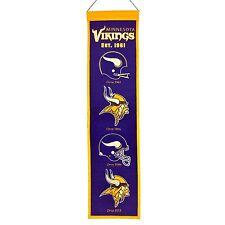 """Minnesota Vikings NFL Embroidered Wool Heritage 32"""" Banner Pennant"""