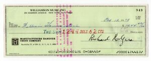 Richard Rodgers - Broadway Composer - Autographed 1978 Check w/ PSA COA