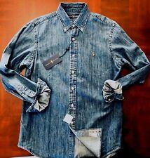 NEW Polo Ralph Lauren Denim Sport Shirt Size Small $98.00