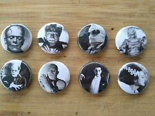 "8 1"" Monsters pinback badges buttons"