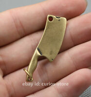 43MM Curio China Bronze Wealth Small Kitchen Knife Cook Chopper Lucky Pendant 6g