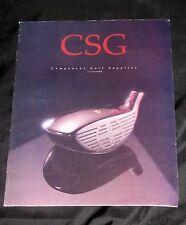 1993 CSG GOLF COMPONET SUPPLIES  Handbook Catalog Book Equipment Club Head Shaft