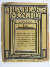 More details for theatre arts monthly january 1929 ruth draper eddie cantor aeschylus bickford
