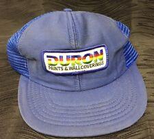 Vintage Rare Duron Paint Blue Mesh Trucker Hat Cap Snapback Adjustable