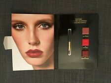 Tom Ford Lipstick Lip Card 3 Shade Sample INDIAN ROSE TRUE CORAL SCARLET ROUGE
