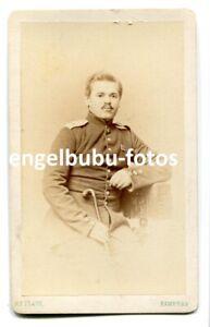 """PORTRAIT-FOTO - CDV- 1866 """"Königgrätz"""" - 2.Pommersches Inf.Regt.14 aus """"Stettin"""""""