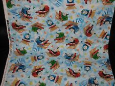 New THOMAS The TANK Cotton Fabric for Quilting, Curtains, Boys Room SOLD by Yard
