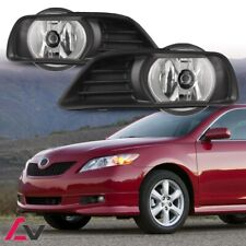07-09 For Toyota Camry Clear Lens Pair Bumper Fog Light Lamp+Wiring+Switch Kit