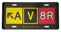 AV8R Taxiway Sign Decorative License Plate! Aviation Pilot Gift. Automotive sign