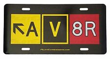 AV8R Taxiway Sign Aluminum Decorative License Plate! Aviation Pilot Gifts.