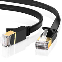Cat 7 ethernet Cable Networking Patch STP Gold RJ45 Gaming MAC Desk ADSL LAN LOT