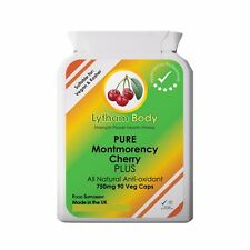 PURE Montmorency Cherry 750 mg per cap x 90 Active Nutrition - Gout - Vegan