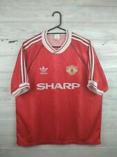 Manchester United jersey large 1990 1992 home shirt soccer football Adidas
