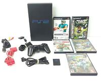 Sony PlayStation PS2 - 11pc Bundle Console Controller Cords & Games Tested