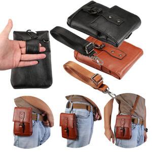 3 in 1 Men's Leather Bum Belt Waist Fanny Bag Pouch Pack Shoulder Messenger Bag