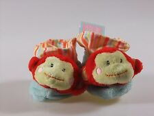 Russ Berrie Baby Booties Plush Monkey Size 0-10 Months Shower Gift New Rare