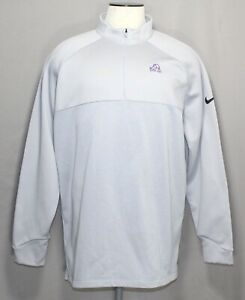 Nike Core Therma Core Gray TCU Horned Frogs 1/2 Zip Golf Pullover Men's Size 2XL