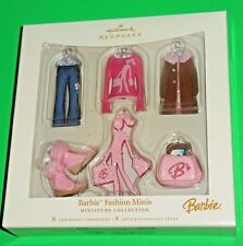 "New 2006 Hallmark ""Barbie Fashion Minis 6 Piece Miniature Collection"