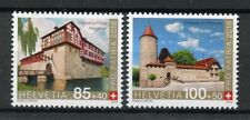 Switzerland 2018 MNH Pro Patria Fortresses & Castles 2v Set Architecture Stamps