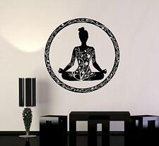 Vinyl Wall Decal Yoga Meditation Circle Ornament Buddhism Stickers (ig3609)