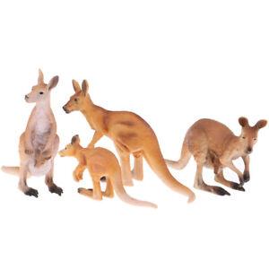 Wildlife Animals Action Model Toy Kangaroo Figure Home Table Ornaments Decor