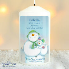 Personalised The Snowman and the Snowdog Candle - Christmas Gift Home Decoration
