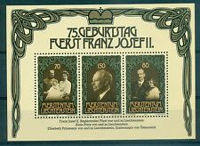 EVENEMENTS - Prince Franz josef II LIECHTENSTEIN 1981 75th Birthday block