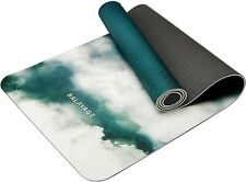 Yoga Mat Tpe Green– Non-Slip, Great for Exercise and Workout- 6mm Thick,.