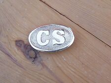 Civil War Reenactors Confederate CSA Soldiers Brass Belt Buckle