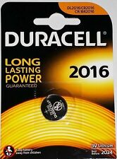 10 x DURACELL CR2016 3V litio moneta cella BATTERIE 2016 DL2016 scadenza 2024