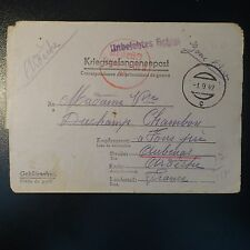 LETTRE COVER ALLEMAGNE PRISONNIER DE GUERRE CAMP STAMMLAGER XVIII A 01.09.1942