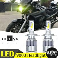 For Kawasaki Ninja 900R ZX900A 1984 1985 1986 2X Yellow LED Headlight 36W Bulbs