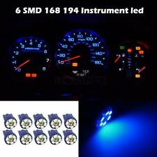 10x T10 194 W5W Blue LED Car Motorcycle Dome Instrument Dash Lights/Bulbs/Lamps