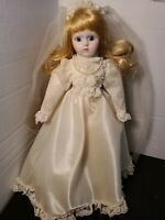 "Vintage 1988 Heritage Mint 16"" Wedding Bridal Porcelain Doll ""Bride Deborah"""