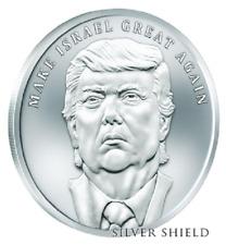 2018 1oz  BU MAKE ISRAEL GREAT AGAIN SILVER SHIELD GROUP Trump SSG 777