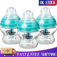 Tommee Tippee Advanced Anti-Colic Baby Bottles 3x150ml Heat Sensing Technology