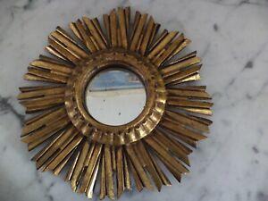 Miroir Soleil ANCIEN BOIS Doré