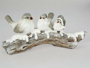 Formano Wintervögel, VogelgruppeSpatzen auf Zweig 58 x 25 cm, handbemalt 066bo